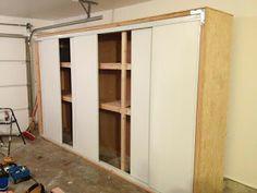 Garage Closet with Sliding Door