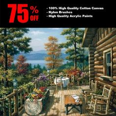 """DIY Painting By Numbers - Garden (16""""x20"""" / 40x50cm)"""