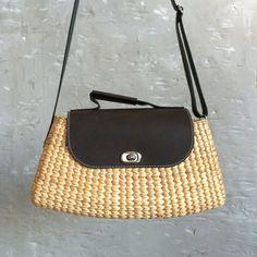Women Handmade Rattan Bag Straw Woven Crossbody Bag Summer Beach Handbag Salable