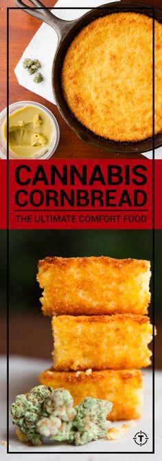 Cannabis Cornbread recipe Medical How to To Make Marijuana Edibles Weed Recipes, Marijuana Recipes, Cannabis Edibles, Cooking Recipes, Cannabis Oil, Cooking With Marijuana, Recipies, Gastronomia, Sweets