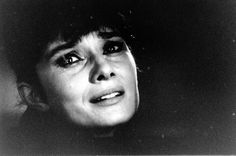 Extreme close-ups of Audrey Hepburn as she cries in a scene from The Children's Hour directed by William Wyler, Los Angeles, California, 1961.  Photos by Ralph Crane.