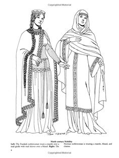 Medieval Fashions Coloring Book (Dover Fashion Coloring Book): Tom Tierney: 9780486401447: Amazon.com: Books