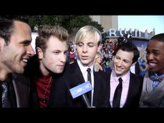 The Warblers Interview - 'Glee the 3D Concert Movie' Premiere