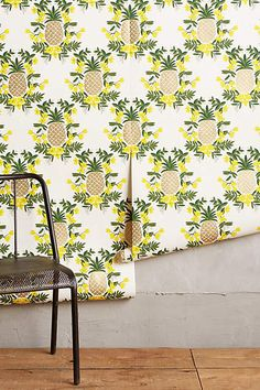 This printed wallpaper by Rifle Paper Co. at Anthropologie is perfect for perking up a statement wall or powder room.