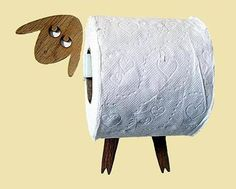 Sheep-shelf - a toilet paper storage for a large number of rolls. This shelf allows you to place in an easy and joyful way an entire package of toilet paper (30 rolls) on a wall, freeing up some precious square feet. The wall shelf can also be used for other things, such as diapers, small