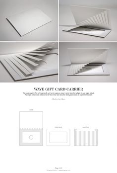 Wave Gift Card Carrier - Packaging & Dielines: The Designer's Book of Packaging Dielines