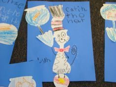 "I just loved these ""Cat in the Hat' works by the K-5 kids! I am so proud of them!"
