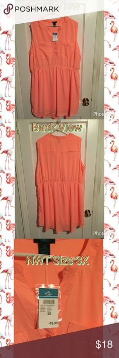 Rue 21 size 3x shirt dress This beautiful bright orange dress is perfect to dress up or down! It's flowy with a button up front. Very light and comfortable! Rue 21 Dresses