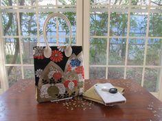 Phone Purse Flower Garden  Japanese Kimono Obi by KimonoTango