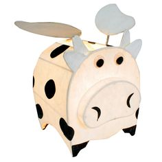 LumiSource Night Time Pals Cosmo the Cow Wings Table Lamp & Reviews | Wayfair