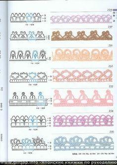 Crochet Boarders, Crochet Edging Patterns, Crochet Lace Edging, Diy Crochet, Crochet Stitches, Crochet Baby, Filet Crochet, Lace Tape, Crochet Bracelet