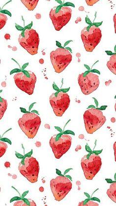 Pattern Design Vintage strawberry watercolor wallpaper Pattern DesignSource : Vintage strawberry watercolor wallpaper by yurdanurolcay Watercolor Pattern, Watercolor Paintings, Watercolor Illustration, Watercolors, Cake Illustration, Watercolor Design, Pattern Illustration, Painting Canvas, Original Paintings