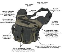 6992a6264681 US Peacekeeper - Rapid Deployment Pack - OD Green and Black Tactical