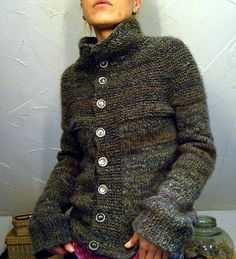 heavily modified -top down garter stitch yoke vest (short rows version) by naganasu by lilalu -free pattern