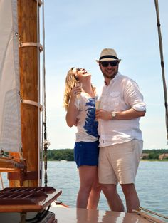 ♥ So romantic, a nautical engagement♥