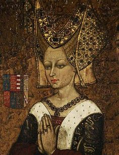 The opulence of the High Middle Ages .....Margaret of Anjou, in Court attire