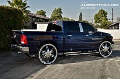 Custom Dodge Ram with rims  | 30 quot esrella cursa chrome on 2013 dodge ram 1500