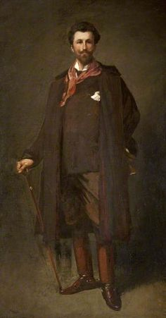 Portrait of Robert Bontine Cunninghame Graham (1852–1936), 1893 by Sir John Lavery (Irish 1856-1941) ....although Irish, Lavery spent much of his formative life and career in Scotland and was a central figure of The Glasgow Boys...