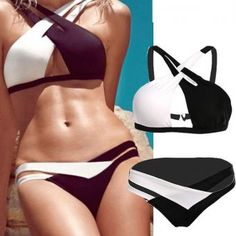 2015 Sexy Women Bandage Bikini Set Push-up Padded Bra Swimsuit Swimwear - Bra and Bikini Fashion Bikini Swimwear, Sexy Bikini, Bikini Girls, Bikini Set, Cut Out Swimsuits, Cute Swimsuits, Cute Bathing Suits, Zumba, Athleisure
