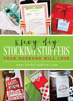 We're doing a homemade Christmas this year. DIY sexy stocking stuffers totally count! I'm so excited! www.TheDatingDivas.com