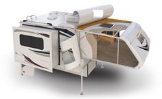 Lance 855s Truck Camper - Amazing functionality provided by the dinette slide in this short bed model!