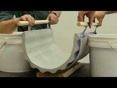 Surecrete Easy How To Bending Concrete Precast GFRC Furnuture Design - YouTube
