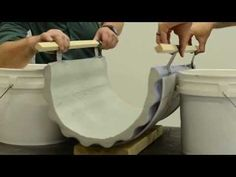 Surecrete Easy How To Bending Concrete Precast GFRC Furnuture Design - YouTube