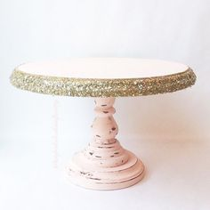 Rustic glam cake stand blush cake stand by UnpolishedandPretty
