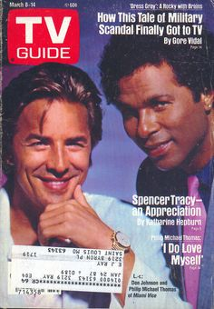 Don Johnson and Philip Michael Thomas on the cover of TV Guide (March 8, 1986)