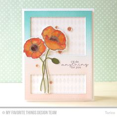 Delicate Pretty Poppies, Harlequin Background, Delicate Pretty Poppies Die-namics, Stitched Cover-Up Companion - Vertical Die-namics - Torico  #mftstamps