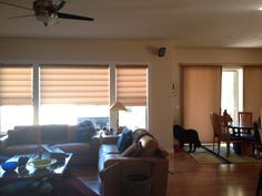 Hunter Douglas Vignettes paired with Duette Vertiglide
