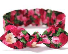 Baby Bow Headband baby girl headband pink cotton baby knot   Etsy