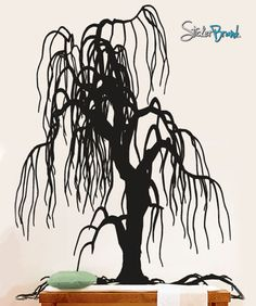 Vinyl Wall Decal Sticker Weeping Willow Tree Decor #153