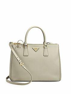 Prada - Saffiano Medium Double Zip Top Handle Bag