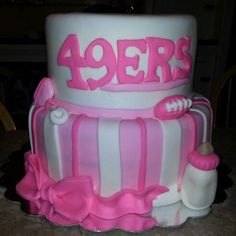 49ers baby shower cake