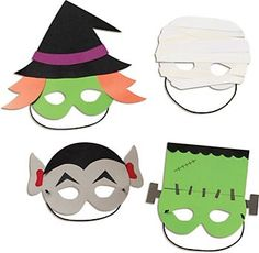 Ghosts and Ghouls and Monsters, oh my!  It's scary how easy it is to do-it-yourself with our Halloween Masks Kit.