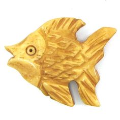 Carved Fish Pendant