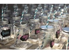Wedding Favor Birthday Favor LOT all inclusive ANY colors! 120 132 144 156 180 204 Mason Jar Mug wedding favor Paper straws wedding package