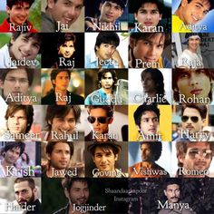 Many avatars of Shahid.