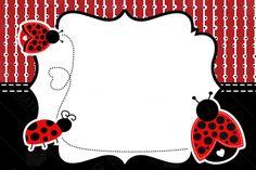 Baby Ladybug, Ladybug Party, Ladybug Crafts, Cute Frames, Class Decoration, Spring Party, Borders And Frames, Birthday Parties, Birthday Celebration