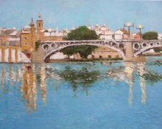 Seville, Types Of Art, Bird Art, Watercolor, Fantasy, Granada, Bridges, Costa, Painting