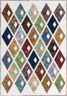 Diamond Alley designed by Sassafras Lane Designs. Features Artisan Batiks: Scribbles by Lunn Studios, shipping to stores February 2016. #artisanbatiks