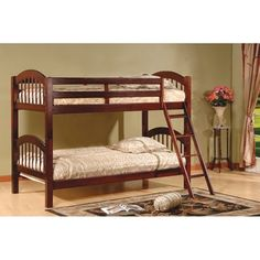 Shop for Arched Twin Esprit Cherry Finish Bunk Bed. Get free delivery at Overstock.com - Your Online Furniture Outlet Store! Get 5% in rewards with Club O! - 15024126