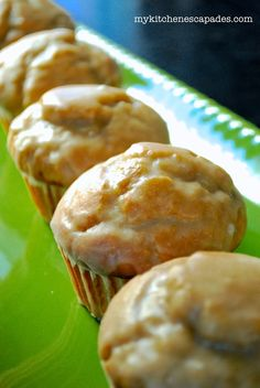 These muffins taste just like old fashioned donuts and are dipped into a powdered sugar glaze to finish them off. The best recipe