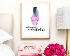 nail polish print bathroom print bedroom decor salon room
