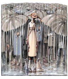 63 Trendy dancing in the rain painting umbrellas rainy days Umbrella, Rain Painting, Cute Art, Art, Pictures, Art Pictures, Dancing In The Rain