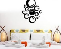 Moderné samolepiace nástenné hodiny Bubbles Home Decor, Decoration Home, Room Decor, Home Interior Design, Home Decoration, Interior Design