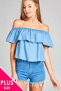 9a88d12e1f50f5 Ladies fashion plus size boho contemporary elastic off the shoulder top