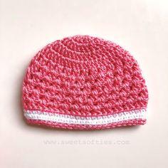 Baby's Lacy Beanie (Free Crochet Pattern) - Sweet Softies | Amigurumi and Crochet