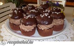 Rigó Jancsi muffin recept fotóval Riga, Muffins, Sweets, Breakfast, Food, Morning Coffee, Muffin, Gummi Candy, Candy